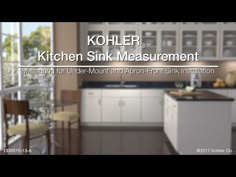 Measuring for Under-Mount and Apron-Front Sink Installations