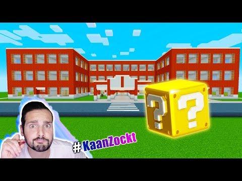 LUCKY BLOCK BATTLE IN DER SCHULE! Kaan reagiert auf High School in der Stadt bei Minecraft! Deutsch