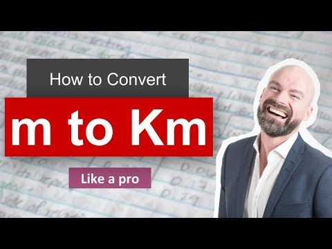 ✅ Convert m to km (meter to kilometer) with Example