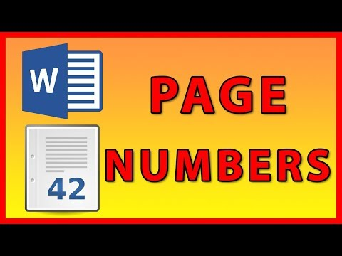 How to add Page Numbers in Word 2016 / 2019 - Tutorial