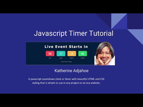 Learn JavaScript by creating a Timer  or Countdown Clock with HTML and CSS Styling