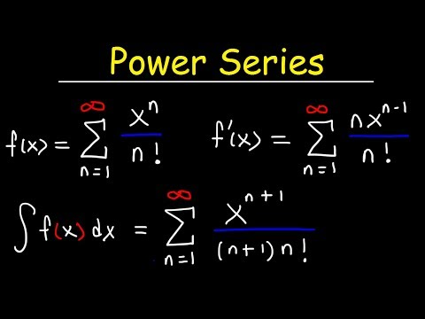 Power Series - Differentiation and Integration - Calculus 2