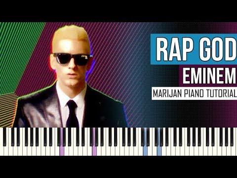 How To Play: Eminem - Rap God | Piano Tutorial + Sheets