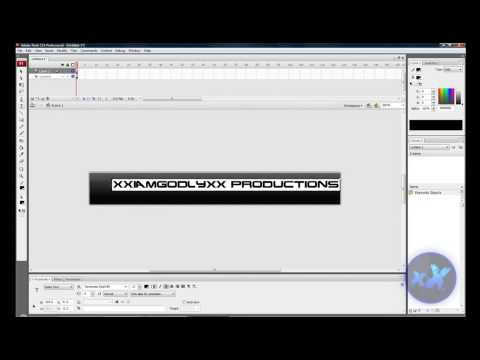 How to Make a Banner in Adobe Flash CS3 - TUTORIAL