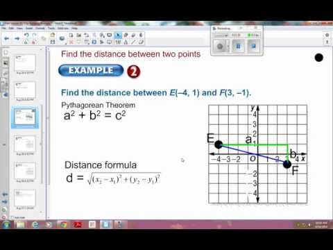1-3 Example 2: find the distance between two points on coordinate plane