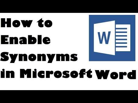How To Enable Synonyms in MS Word - Simple Steps