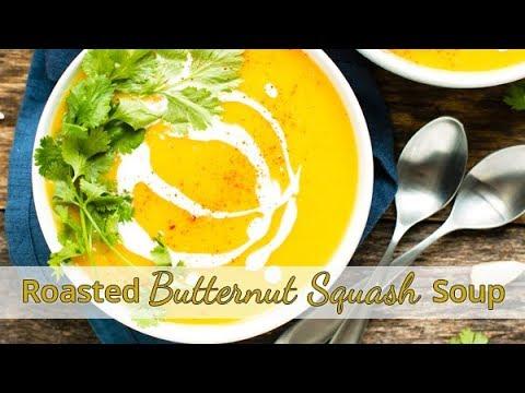 Roasted Butternut Squash Soup | Vegan, Whole 30
