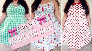 💖 COLLECTIVE MODCLOTH HAUL 💖   PLUS SIZE TRY-ON