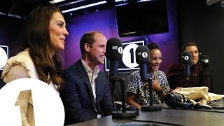 The Duke and Duchess of Cambridge surprise Radio 1