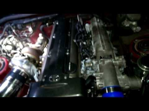 sc300 2jzgte 67mm turbo idle and rev open down pipe