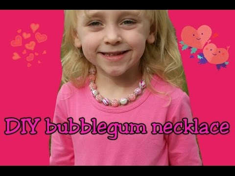 DIY Boutique Bubblegum Necklace| MommyDani2