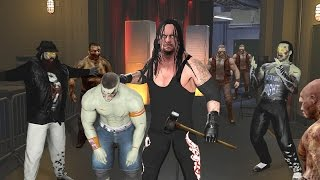 WWE 2K17 Zombies Mode - The Undertaker Challenges Zombie Roster