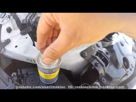 BMW E60 how to fix crumpling headlight internal wires