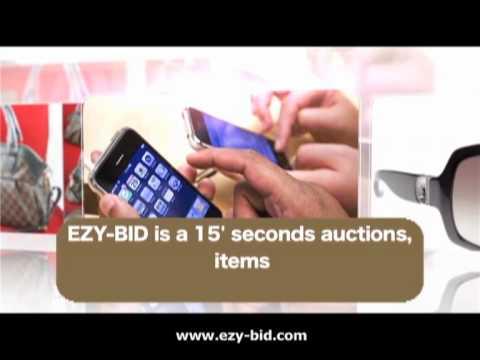 EZY-BID Online Auctions cheapest buy latest iPhone iPad laptop mobile phone camera HDTV