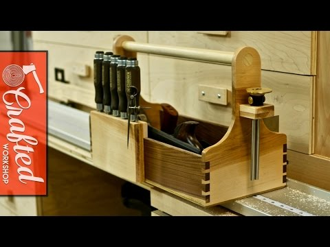 Hand Tool Tote with Hand Cut Dovetails | How To Build - Woodworking