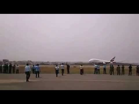 A380 lands at Begumpet