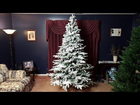 Vickerman Utica 7.5' Snow Flocked Christmas Tree review