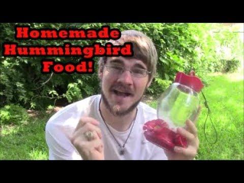 Easy Homemade Hummingbird Food Recipe and Setting up the Feeders!