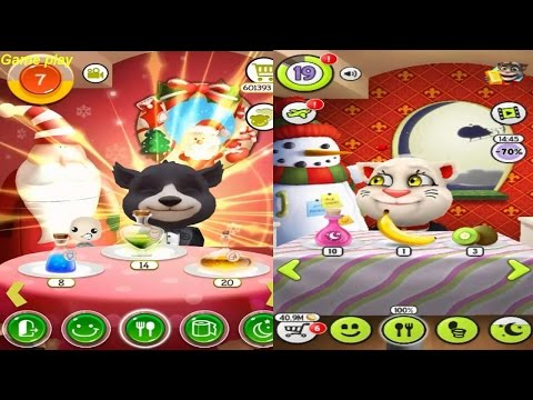 My Talking Tom Level 18  VS  BB Talking Bear Level 6 Gameplay Great Makeover for Children HD