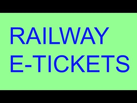 How To Booking Railway e-Tickets.