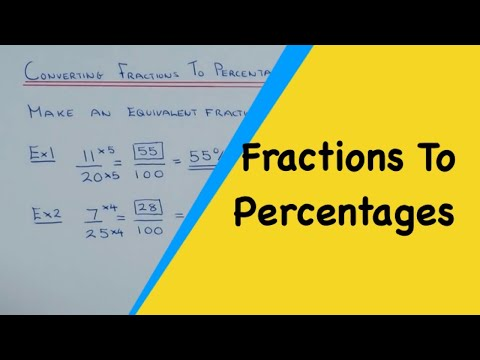 How To Convert A Fraction Into A Percentage Without A Calculator.