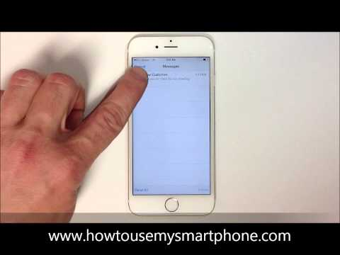 How to Delete a Text Message - iPhone 6
