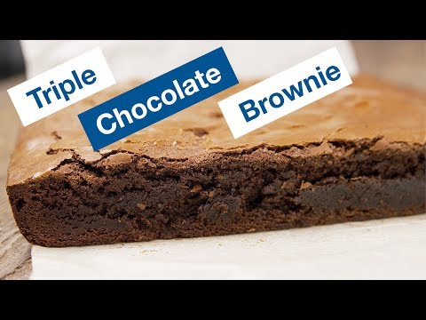 Triple Chocolate Brown Butter Brownies Recipe || Le Gourmet TV Recipes