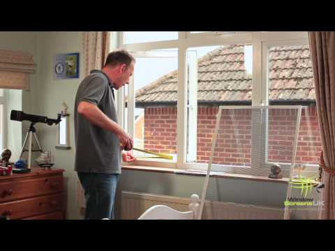 Measuring your window for a fly screen.