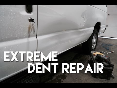 Extreme PDR Big Dent Repaired By Dentlesstouch