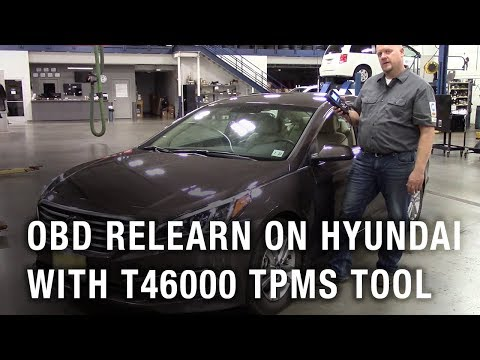 OBD relearn on Hyundai with the T46000 TPMS Tool