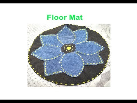 Recycle old jeans /demin/pant/shirt to make floor mat, door mat,area rug,table mat