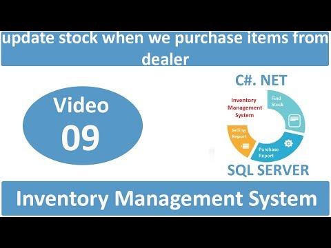 how to update stock when we purchase items from dealer in IMS