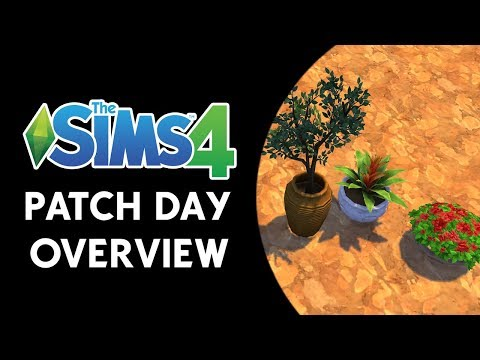 The Sims 4 Patch Day Video Overview! (SEPARATED PLANTS, ISLAND COUNTER, and MORE!)