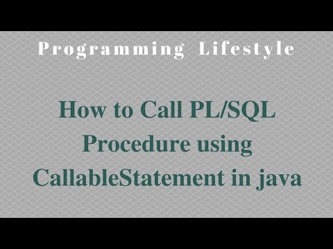 How to Call PL/SQL Procedure  using CallableStatement in java
