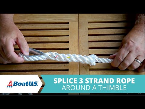 How To Add a Thimble Splice to Line or Rope | BoatUS