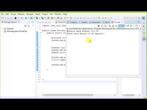 how to check account balance and make a deposit using java - 9