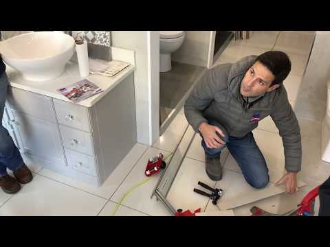Cutting standard porcelain tiles with a tile cutter for thin porcelain tiles