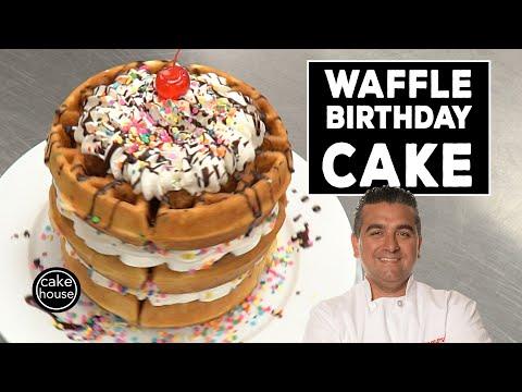 The Cake Boss's Waffle Birthday Cake | Fast Cakes Ep06