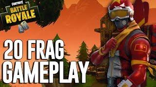 20 Frag Gameplay - Fortnite Battle Royale Gameplay - Ninja