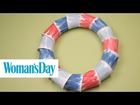 Watercolor Paper Cup Wreath | Woman's Day
