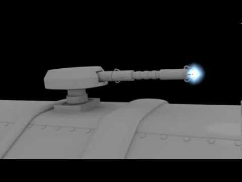 Laser Gun Shooting Test in Blender