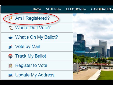 Register to Vote/Check Your Voter Registration Online