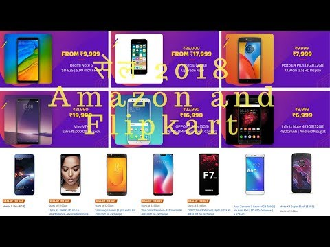 best smartphone offer Flipkart and Amazon sale 2018