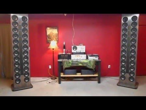 Open Baffle Line Array speakers I built.