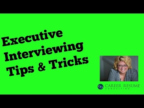 Interview Tips: Executive Job Interview Questions to ask Hiring Manager Part 1