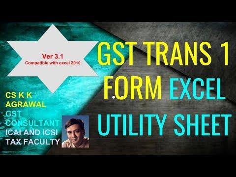 ver 3.1 GST Trans 1 Excel utility sheet (Improved version)