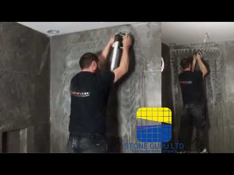 How to polish marble wall by Vertika machine (By StoneGuru.London)