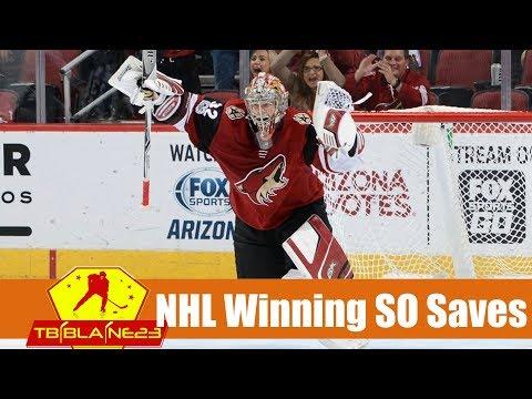 NHL Game Winning Shootout Saves