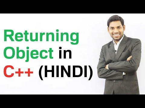 Returning Objects in C++ (HINDI/HINDI)