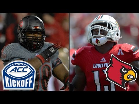 Louisville's Rankins Can't Get Football Off His Mind | 2015 ACC Kickoff